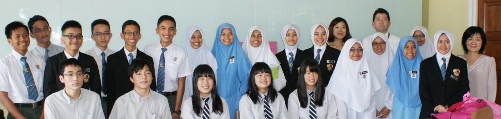 Program Sister School bersama Itsukaichi Senior High School, Hiroshima, Jepun