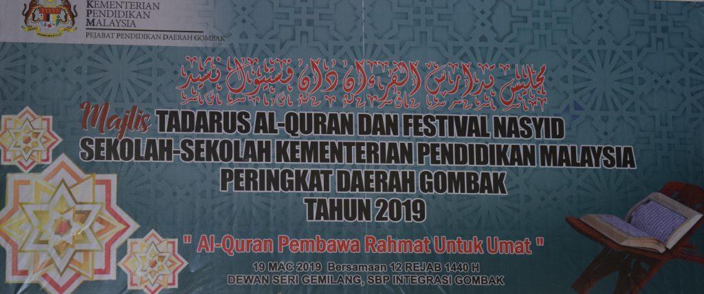 Majlis Tadarus Al-Quran Dan Festival Nasyid Daerah Gombak