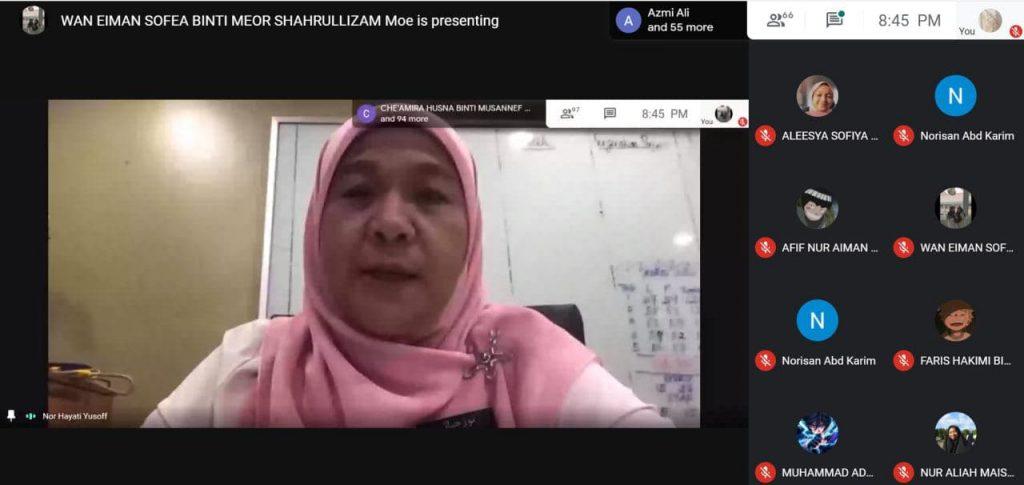 Perjumpaan Pengetua Dengan Ibu Bapa dan Murid-murid Secara Online